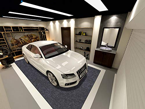 Sensko Garage Floor Mat,Shearable,Absorbent Oil Mat—Floor Mat for Golf Carts,Indoor Parking Mat-Absorbent Felt and Leak-Resistant Anti-Slip Backing,Washable(21.3 ft x 7.5 ft)