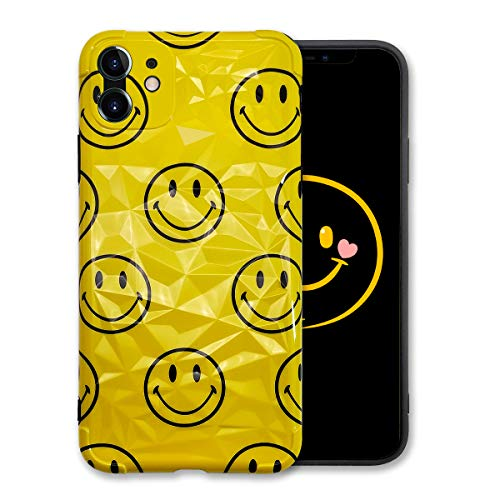 Guppy for iPhone 11 3D Crystal Emoji Smiley Case, Cool Funny Smiley Face Cartoon Protective Case Cover