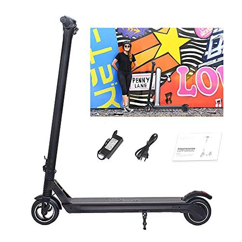 """Magic Way Trottinette Electrique Noir - Pneu 6"""" - Puissance 350W - 25KM / H - Batterie 42V - Écran LCD - LED - Application iOS Android - Scooter Pliable pour Enfants Adultes (4,0 AH)"""
