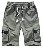 XinYangNi Women's Ease Into Comfort Modern Pull-On Bermuda Short with Pockets Army Green US 8-10