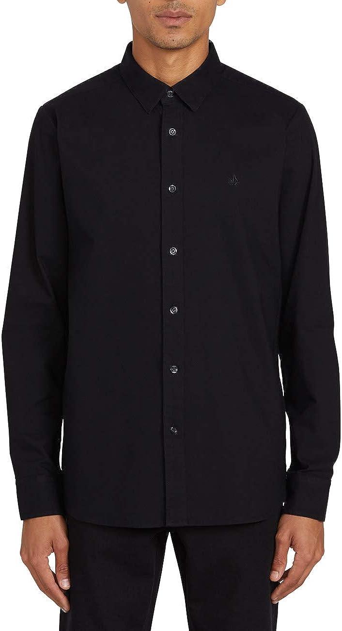 Volcom Men's Oxford Stretch Long Sleeve Button Up Shirt Button Up Shirt