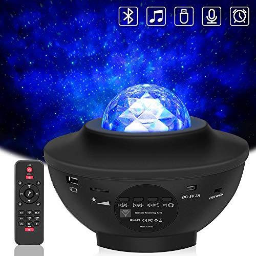 Preisvergleich Produktbild LBell 2-in-1 Nachtlicht-Projektor,  Sternenprojektor mit LED-Nebel,  Wolke für Babys,  Kinderzimmer,  Spielzimmer,  Heimkino,  Nachtlicht,  Ambiente mit Bluetooth-Lautsprecher