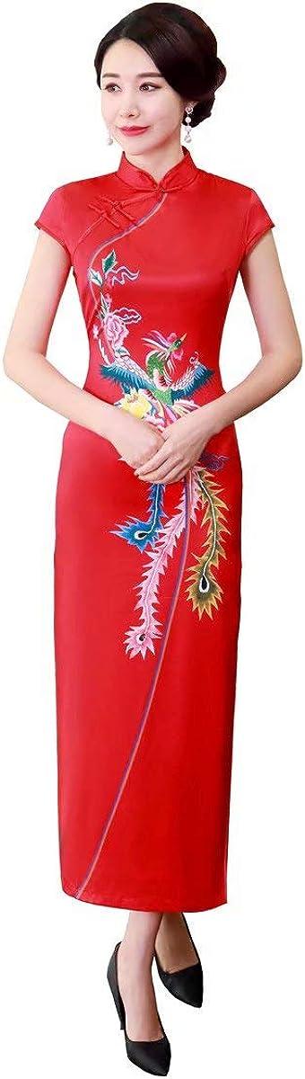 Shanghai Story Flower Print Cheongsam Long Qipao Women's Chinese Traditional Dress