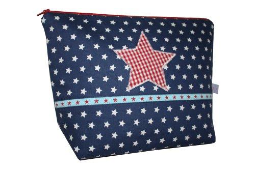 Lilli Löwenherz Sac de culture Motif étoiles Bleu foncé avec poche intérieure