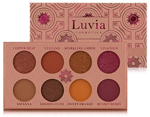 Luvia Lidschatten Palette Matt & Glitzer: Vegan Sunset Nova Eyeshadow, Nachhaltige Kosmetik Frei Von Mikroplastik & Duftstoffen