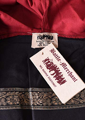Mittelalterkleid Eleanor mit Kapuze, rot/schwarz – Mittelalter Kleid, LARPkleid, Wikingerkleid Größe M - 5