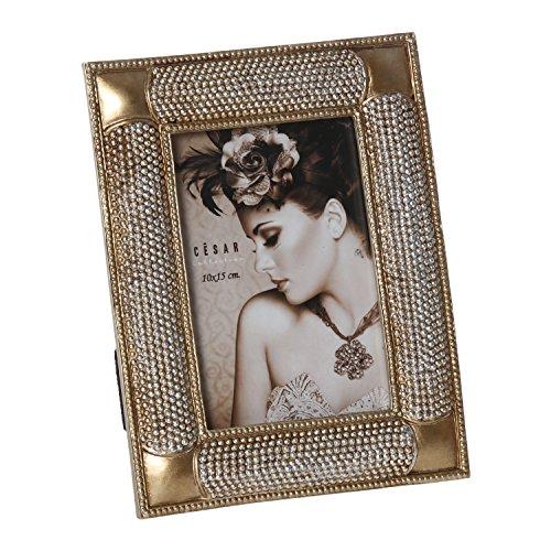 DONREGALOWEB fotolijst van kunsthars, voor foto's van 10 x 15 cm, goudkleurig