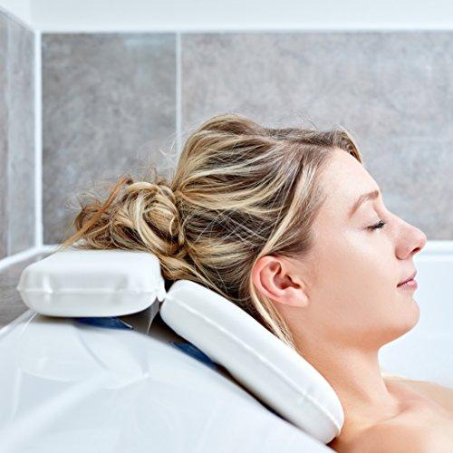 Badkuddar: Bästa badkudden från Tranquil Beauty för huvud och nacke – bad med komfort med kvalitativt, hållbart, mikrofibermaterial som är lätt att rengöra