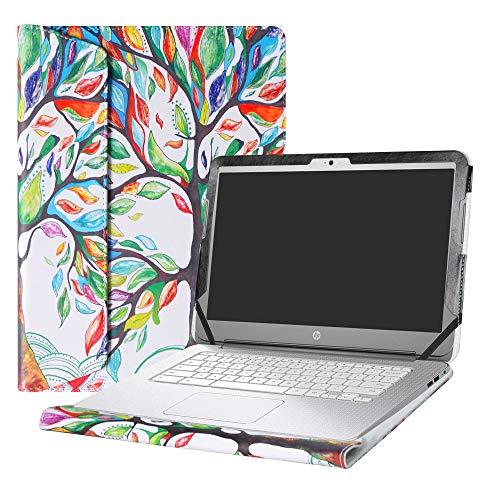 Alapmk Protective Case Cover For 14 HP Chromebook 14 14-akXXX 14-xXXX 14-qXXX & HP Chromebook 14 G1 G2 G3 G4 Series Laptop(Not fit HP Chromebook 14 G5/14-caXXX Series),Love Tree