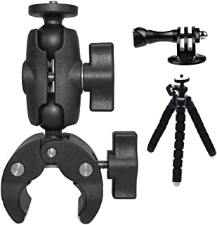 """MEKNIC Camera Clamp Mount Holder with Ball Head Mount Hot Shoe Adapter with 1/4"""" Screw for LCD Monitor,Action Cameras,Mini..."""