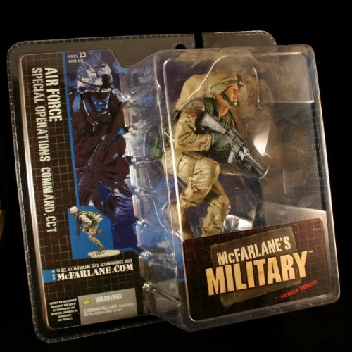 AIR FORCE SPECIAL OPERATIONS COMMAND, CCT CAUCASIAN VARIATION McFarlane's Military Series 1 Action Figure & Display Base