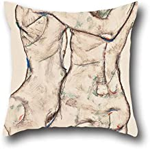The Oil Painting Egon Schiele - Naked Girls Embracing Throw Pillow Case Of ,20 X 20 Inch / 50 By 50 Cm Decoration,gift For Dance Room,couch,kids Girls,dance Room,couples (twice Sides)