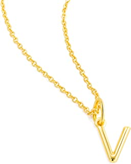 Letter Necklaces Gifts for Women Girls : 14k Gold Plated Dainty Initial Charms Personalized Name Teens Kids Birthday Jewelry