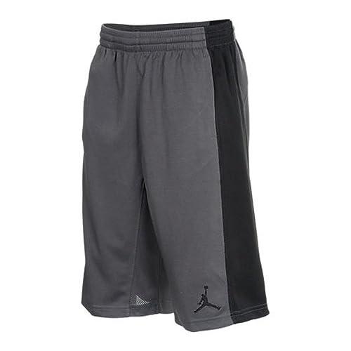 Jordan basketball shorts kids size large black and gold
