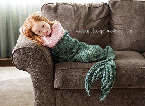 Mermaid Tail Blanket Knitting Pattern