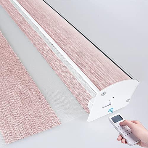 XRDSHY Rollos Elektrisch Doppelrollo Für Fenster Duo Rollo Sichtschutz Lichtdurchlässig Und Verdunkelnd Rollos Für Fenster Und Türen,Pink-70cm x 210cm