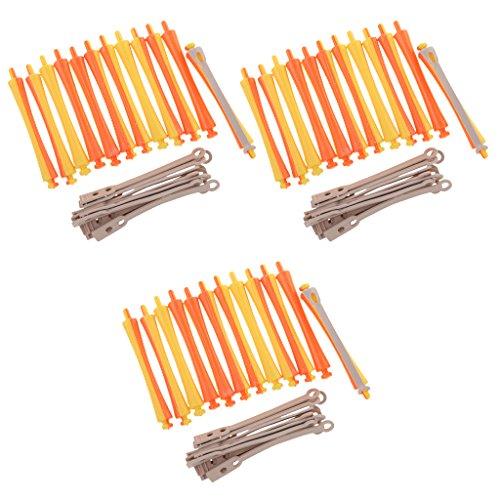 Set de Rodillo Rizado de Pelo Clip de Bigudí de Cabello Herramienta de Peluquero Salón 1.6x9cm - 36 Piezas