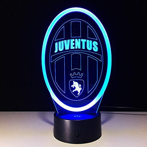Lampada 3D LED Night Light Illusione 7 Cambia Colore Decor Lampada Regalo perfetto per i bambini Juventus Fc