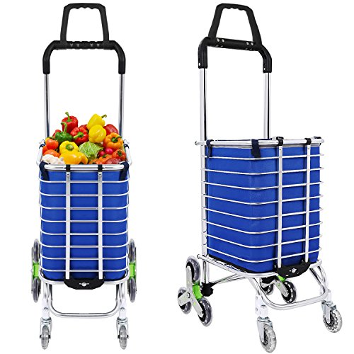 Folding Shopping Cart Heavy Duty Rolling Grocery Carts...