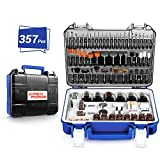 Rotary Tool Accessories Kit, APEXFORGE 357 Pieces 1/8'(3.2mm) Diameter Shanks Universal Fitment for Easy...