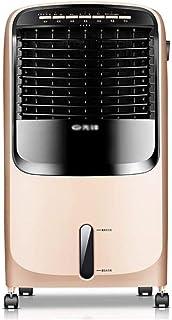 10L Enfriador aire portátil frío caliente control remoto 3 velocidades ventilador función deshumidificador, acondicionador aire doméstico oro Temporizador 7.5 horas, dormitorio casa Dormitorio oficina