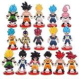 Dragon Ball Figuras, Goku Vegeta Super Saiyan Frieza, Goku Figura de Acción, Anime Modelo Figuras Juguetes para Tarta Decoración Regalo Cumpleaños (A)