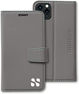 SafeSleeve EMF Protection Anti Radiation iPhone Case: iPhone 11 Pro RFID EMF Blocking Wallet Cell Phone Case (Grey)