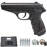 Ecommur. P25 gamo blowback   Pistola de Aire comprimido y perdigones semiautomática 4,5mm + maletín + 2 Cajas de balines y CO2