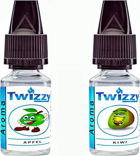 2 x 10ml Twizzy Green Fruits Aroma Bundle | Aroma für Shakes, Backen, Cocktails, Eis | Aroma für Dampf Liquid und E-Shishas | Ohne Nikotin 0,0mg | Flav Drops