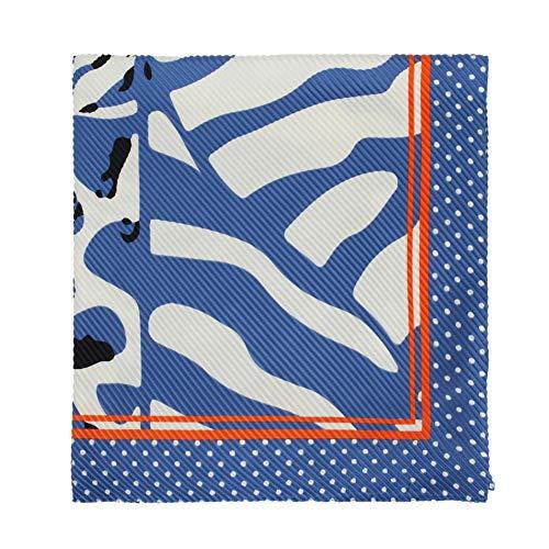 Parfois - Pañuelo Cuadrado Lateral Squares - Mujeres - Tallas M - Azul
