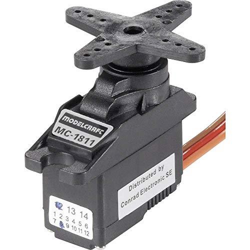 Modelcraft Mini-Servo MC1811 Analog-Servo Getriebe-Material: Kunststoff Stecksystem: JR