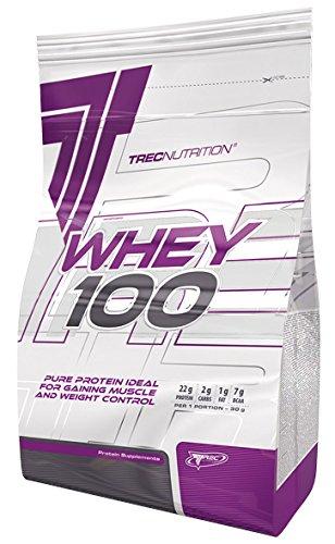 Trec Nutrition Whey 100 Protein Eiweiß Molkenprotein Supplement Eiweißshake Proteinshake Bodybuilding (2275g Beutel Cookies - Keks)