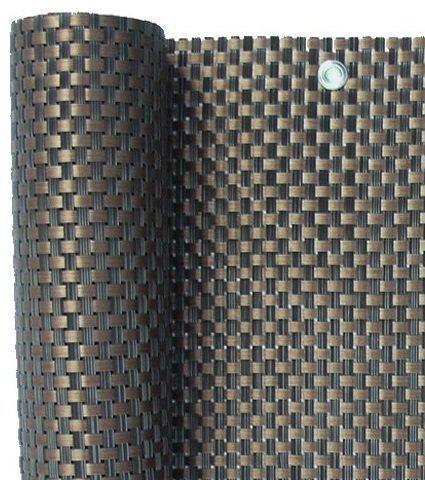 S&D Smart Deko 800x90cm Kupfer Polyrattan Sichtschutz, Balkonsichtschutz, Windschutz, Balkonblende, Garten Sichtschutz