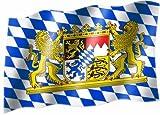Bandiera con stemma della Baviera