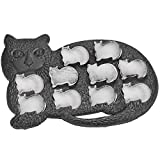 Fairly Odd Novelties Cat Shaped Ice Cube Tray Fun & Cute Animal Replica Mold, standard, Black