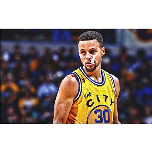 DJHOLI Vaivén de Madera de la NBA de Baloncesto de la Estrella Curry, 300/500/1000/1500 Piezas for niños Adultos Boy Amigas Regalos de la Capacidad de Ejercicio de Juguetes de descompresión