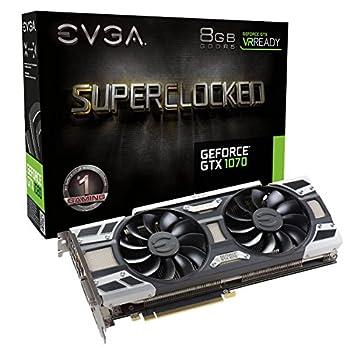 EVGA GeForce GTX 1070 SC GAMING ACX 3.0 8GB GDDR5 LED DX12 OSD Support  PXOC  Graphics Card 08G-P4-6173-KR