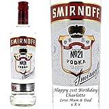 Personalised Smirnoff Red Vodka