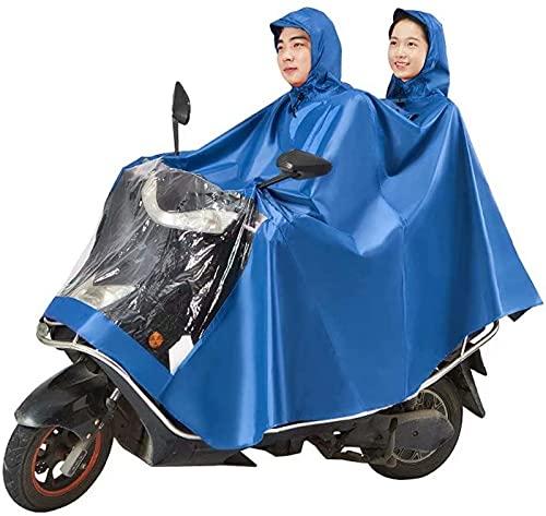 Funda Impermeable antivaho con Ranuras para Espejos Moto Poncho Alargado Impermeable, Scooter de Movilidad eléctrica Motocicleta Capa de Lluvia Grande