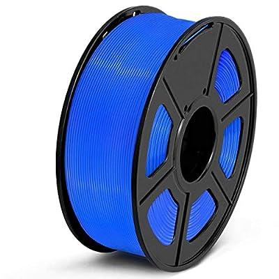 SUNLU PETG Filament 1.75mm 3D Printer Filament PETG 1kg Spool (2.2lbs), Dimensional Accuracy of /- 0.02mm PETG Blue