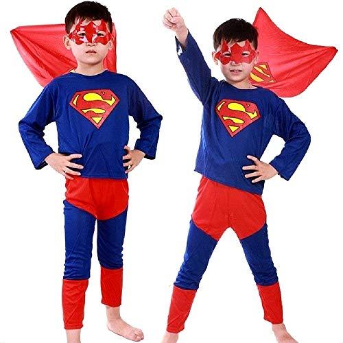Disfraz de Superhéroe - superhéroe - disfraces para niños - halloween - carnaval - hombre de acero - color azul - niño - talla s - 3/4 años - idea de regalo original Superhéroe