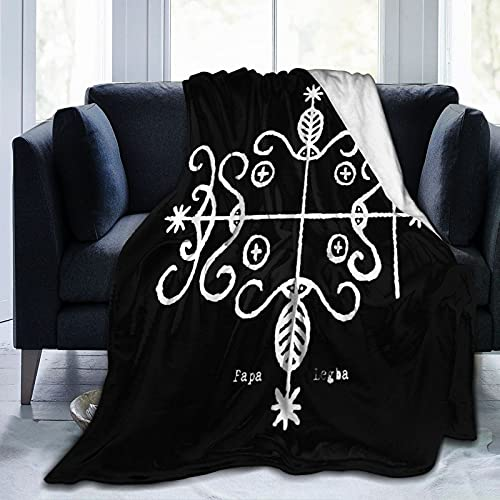 "for Papa Legba Throw Blanket Fleece Blanket 80""X60"" Light Anti-Pilling Flannel Super Soft Comfortable and Luxurious Bed Flannel Fleece Blanket Throw for All Season"