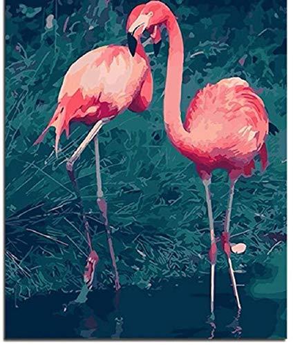 LDTSWES Tiktok Ins Flamingo Animals Puzzle Puzzles, Rompecabezas de Madera de 1000 Piezas, para Juegos de decoración del hogar Juguetes Puzzle