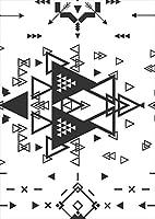 igsticker ポスター ウォールステッカー シール式ステッカー 飾り 1030×1456㎜ B0 写真 フォト 壁 インテリア おしゃれ 剥がせる wall sticker poster 012416 矢 三角 モノトーン