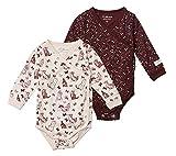 Tiny One Baby Wickelbody | verschiedene Sets | 3er Set Basic | 2er Set Print | Unisex | Mädchen und Junge | Bio Baumwolle | GOTS | 0-4 Monate, Variante:Print - 2er Set, Größe:50 | 0-1 Monate