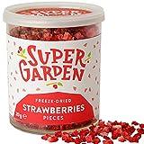 Super Garden fresa liofilizada en trocitos - Producto 100% puro y natural - Apto para veganos - Sin...