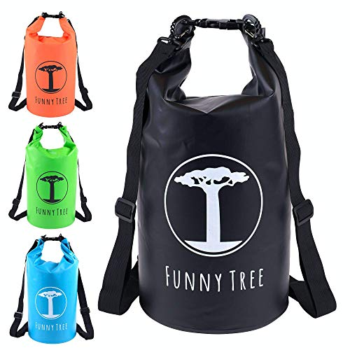 Funny Tree Drybag. (30L Negro) Impermeable (IPx6), DryBag Mejorado, Flotante. Incluye Funda de teléfono móvil Impermeable | Stand Up Paddle | Deportes acuáticos | Esquí | Snowboarding | Buceo