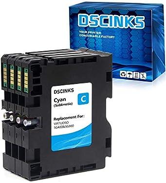 DSCINKS GC41 Dye Sublimation Ink Cartridge Replacement for Sawgrass Virtuoso SG400 SG800 SG 3100 2100 7100 3110 Printer (1 Cyan, 1 Magenta, 1 Yellow, 1 Black, 4-Pack)
