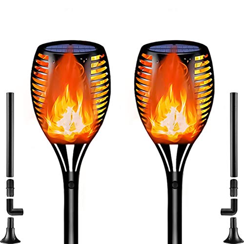 Solar Torch Lights With Flickering Flame Spotlights Waterproof Solar Lawn Lights Outdoor Landscape Decoration Lighting 96 LEDs Dusk to Dawn Auto On/Off Path Light for Garden Patio Yard Driveway
