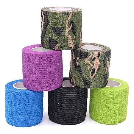 AVA Cohesiv Bandage magic tattoo grip cover 5cm set of 6 pcs mixed colors